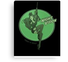 Night Vision Pin Up Canvas Print