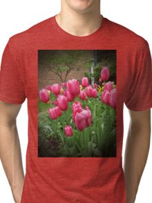 My Focus Was On The Tulips Tri-blend T-Shirt