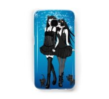 """""""Courtney and Laura: two cat girls"""" Samsung Galaxy Case/Skin"""