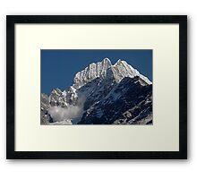 Avalanche on Thamserku Framed Print