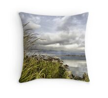 Mouth of the Fraser River Throw Pillow