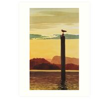 """Orcas Island Sunset"" Watercolor Art Print"