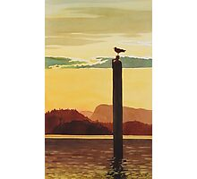 """Orcas Island Sunset"" Watercolor Photographic Print"
