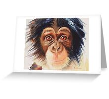 """Chimpanzee"" Watercolor Greeting Card"