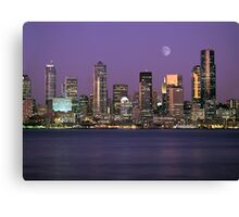 Seattle, Washington city skyline at night Canvas Print