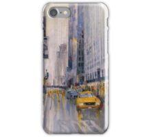 Hey Taxi - New York City Midtown Rain Watercolors iPhone Case/Skin