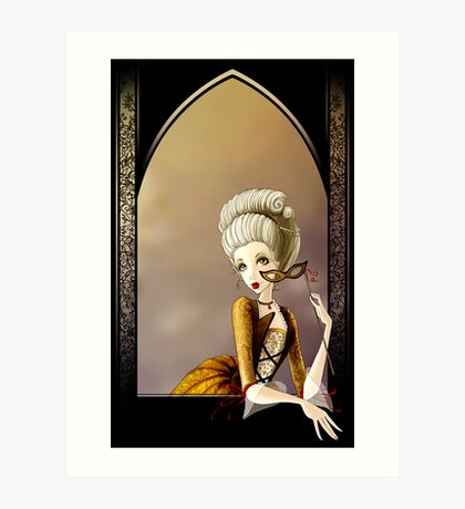 A Lady of the Court Art Print
