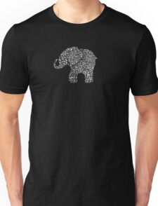 Little Leafy White Elephant Unisex T-Shirt