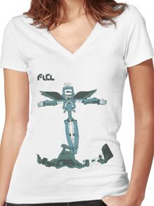 Canti High In The Sky Women's Fitted V-Neck T-Shirt