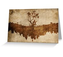 Urban Faun - Grungy Greeting Card