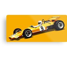 Orange Grand Prix Racer Metal Print