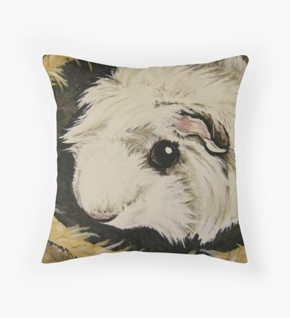 Guinea Pig Hut Throw Pillow