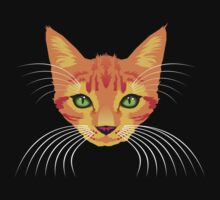orange cat tee by Matt Mawson
