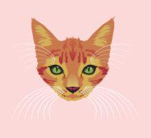 orange cat tee Kids Tee