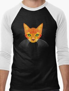 orange cat tee Men's Baseball ¾ T-Shirt