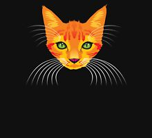 orange cat tee Womens Fitted T-Shirt