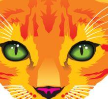 orange cat tee Sticker