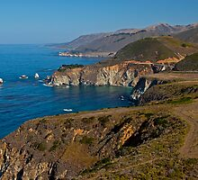 Bixby Bridge from Hurricane Point, Big Sur by Barb White