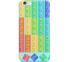 Rainbow Numbers iPhone Case/Skin