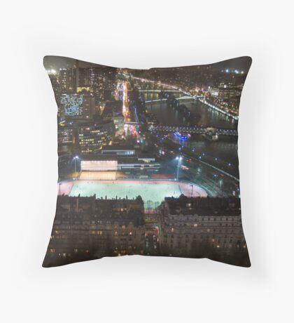A rainy winter's evening in Paris Throw Pillow