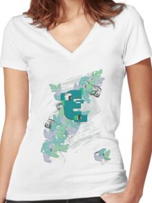 Pattern shirt Women's Fitted V-Neck T-Shirt
