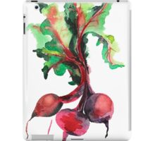 Watercolor image of beet root on white background.  iPad Case/Skin