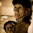 Huaorani Grandmother by tomcelroy