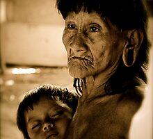 Huaorani Grandmother by tomcelroy