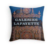 Galeries Lafayette Chrismas lights Throw Pillow