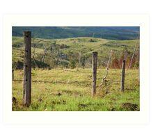 Warwick Fence Line © Art Print