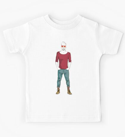 man in fashion clothes Kids Tee