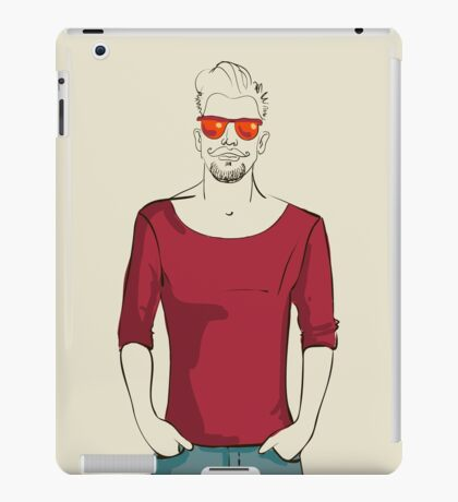 man in fashion clothes iPad Case/Skin