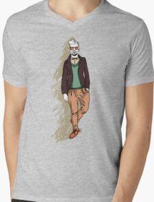 man in fashion clothes Mens V-Neck T-Shirt