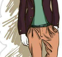 man in fashion clothes Sticker