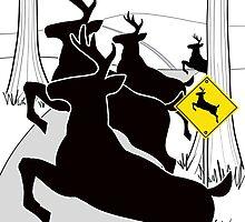 Deer Crossing by Thingsesque