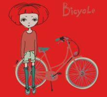girl with bicycle Baby Tee