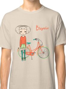 girl with bicycle Classic T-Shirt