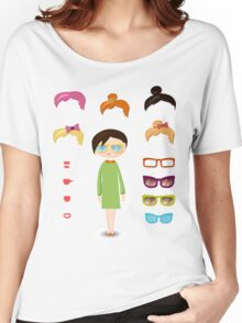 girl fashion set Women's Relaxed Fit T-Shirt