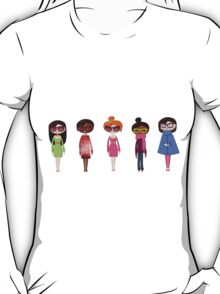 Hipster girl fashion set T-Shirt