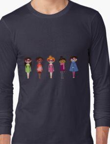 Hipster girl fashion set Long Sleeve T-Shirt