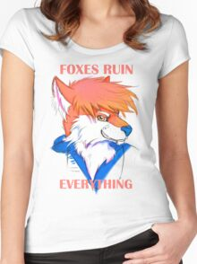 Foxes Ruin Everything Women's Fitted Scoop T-Shirt