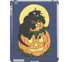 Black Cat and Pumpkin iPad Case/Skin