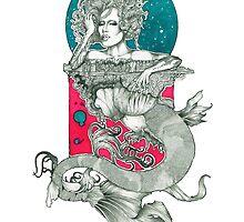 Raja Drag Queen Mermaid by kaeliniancooper