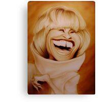 Celia Cruz Caricature Canvas Print