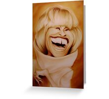 Celia Cruz Caricature Greeting Card