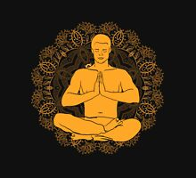 man sitting in the lotus position doing yoga meditation Unisex T-Shirt