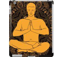 man sitting in the lotus position doing yoga meditation iPad Case/Skin