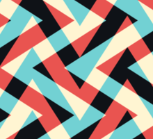 Crazy Retro ZigZag Sticker