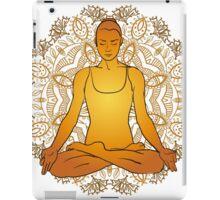 beautiful woman doing yoga meditation iPad Case/Skin
