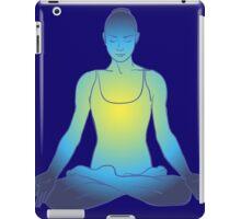 illustration beautiful woman doing yoga meditation iPad Case/Skin
